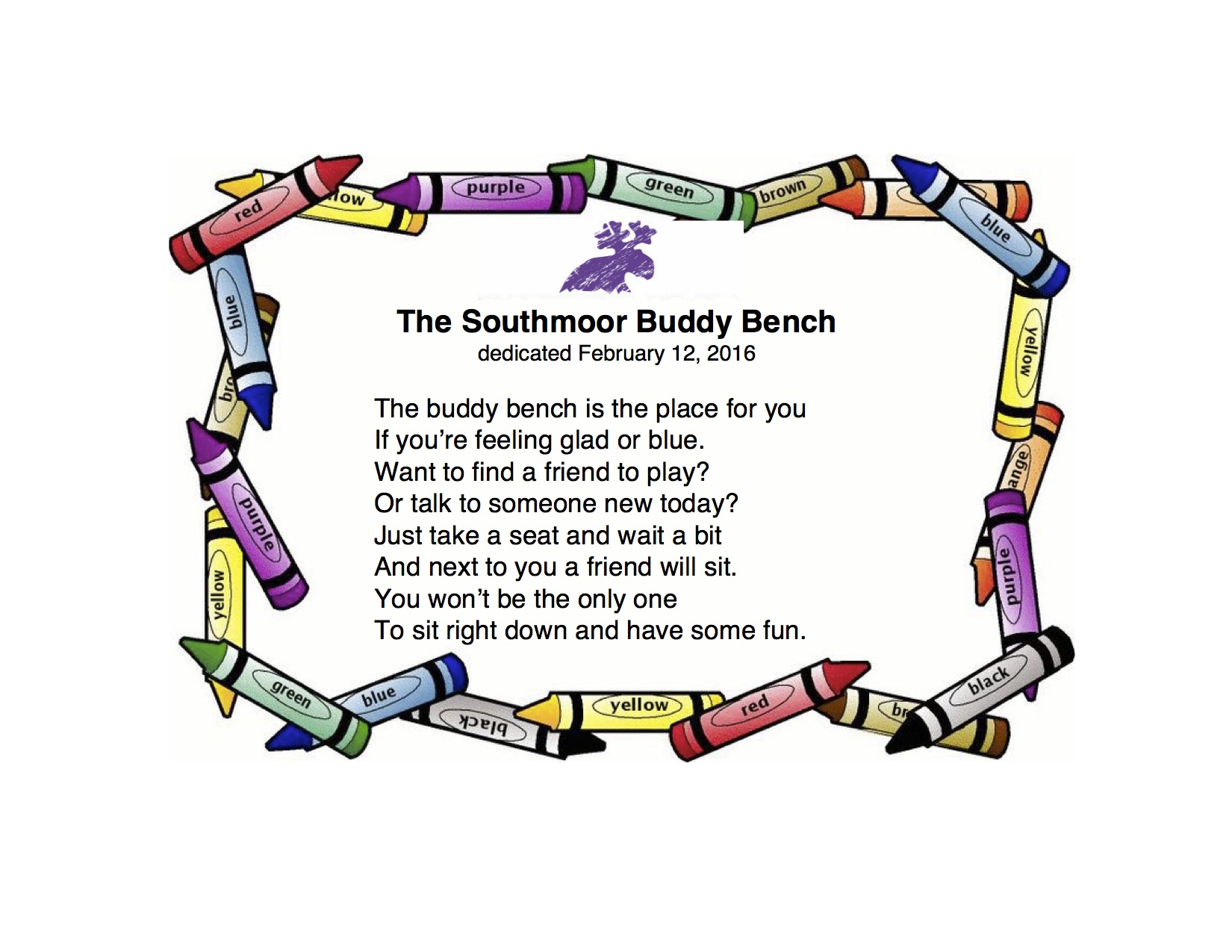 The Southmoor Buddy Bench